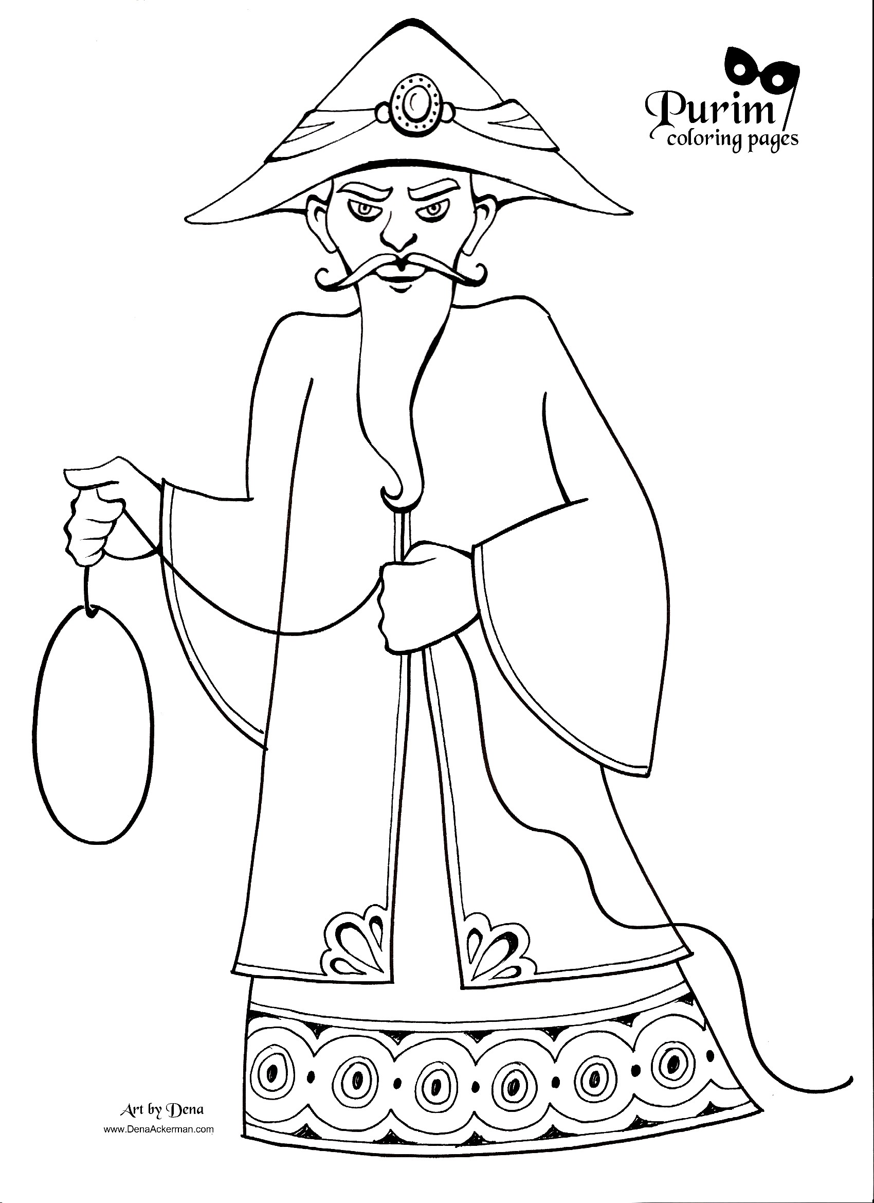 purim coloring pages for preschoolers - photo#5