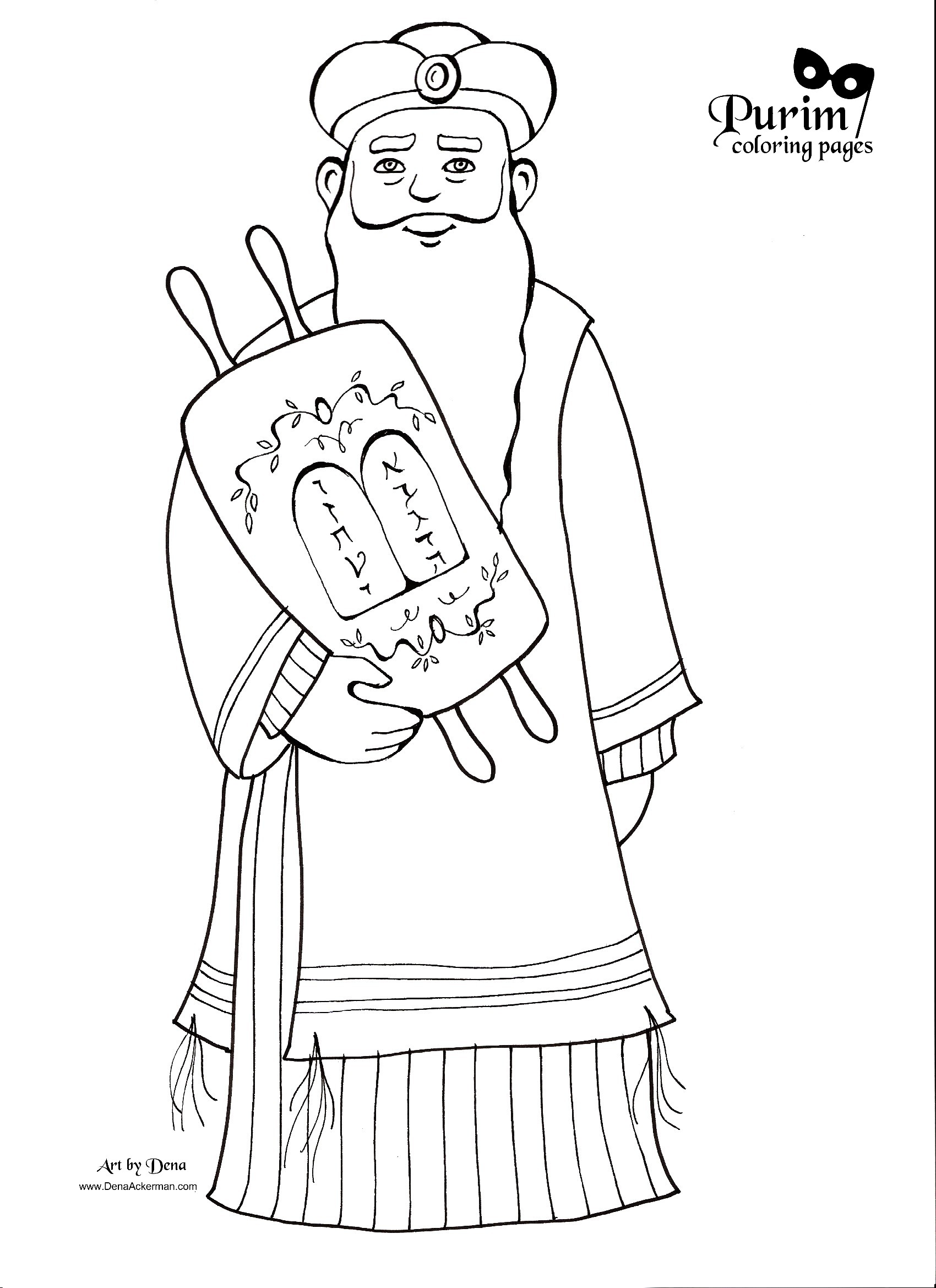 Purim Coloring Pages Purim Coloring Pages
